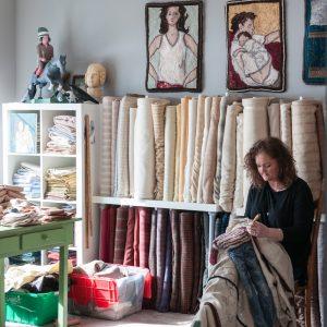 Rachelle LeBlanc at work in studio 2